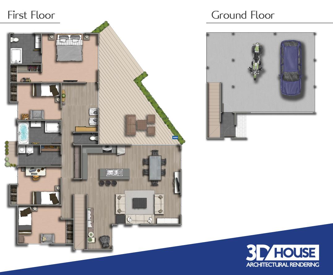 Holiday Builders Floor Plans 2d Coloured Floor Plan Nambour