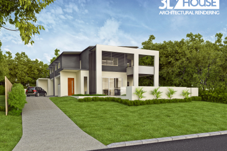 Noosaville Duplex – High Quality 3D Visualisations