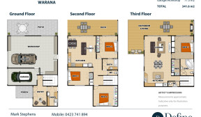 3 Story Real Estate Floor Plan – Warana