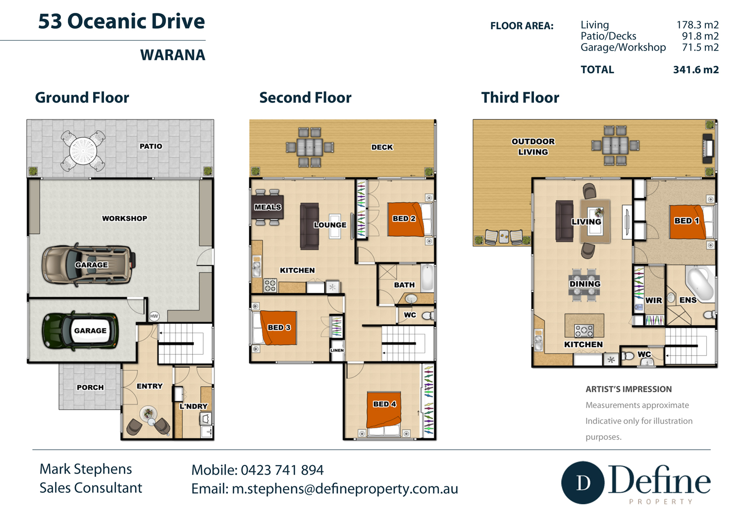 3 story real estate floor plan - Home decorating style names plan ...